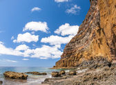 Black sand volcanic beach. Tenerife Island — Photo