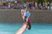 シャム パークでウィンド サーフィンのセッション。テネリフェ島 pwa2014 — ストック写真