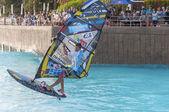 Windsurfing session in Siam park. PWA2014 Tenerife — Stock Photo