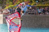 Windsurfing session in Siam park. PWA2014 Tenerife — Foto Stock