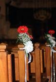 Ramo de flores en la iglesia — Foto de Stock