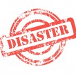 Disaster stamp — Stock Photo
