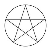 Wicca Pentacle sign — Stock Photo
