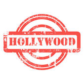 Hollywood grunge stamp — Stock Photo