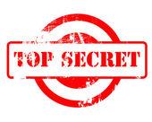 červené razítko přísně tajné — Stock fotografie