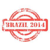 Brazil 2014 stamp — Stock Photo