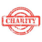 Grunge Charity stamp — Stock Photo