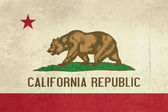 Grunge California State flag — Stock Photo