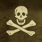 Grunge Jolly Roger flag — Stock Photo #12811129