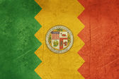 Grunge Los Anglese city flag — Stock Photo