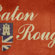 Grunge Baton Rouge flag - Stock Photo