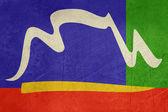 флаг города город гранж мыс — Стоковое фото
