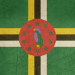 Постер, плакат: Grunge Dominica Flag