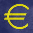 Grunge European currency symbol — Stock Photo