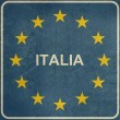Grunge European Italy sign — Stock Photo