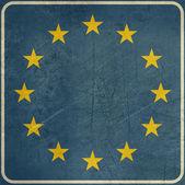 Grunge European Union road sign — Stock Photo