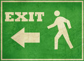 Grunge exit Sign — Stock Photo