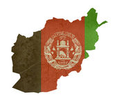 Grunge flag map Afghanistan — Stock Photo
