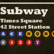 Grunge Times Square subway sign - Stok fotoğraf