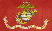 Grunge 我们海军陆战队标志 — 图库照片