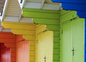 Colorful beach chalets — Stock Photo