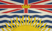 Grunge British Columbia state flag — Stock Photo