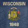 Grunge Wisconsin state flag — Stock Photo #14102533