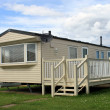 Foto de Stock  : Holiday caravor mobile home