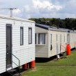 Stock Photo: Static caravans in trailer park