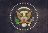 Grunge American Presidents flag — Stock Photo