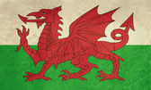 Grunge Welsh flag — Stock Photo