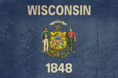 Grunge Wisconsin state flag — Stock Photo