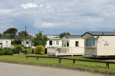Scenic view of caravan trailer park — Stock Photo