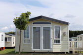 Static caravan in trailer park — Stock Photo