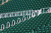 Terrace seats in outdoor stadium — Stock Photo