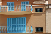 Exterior of Spanish homes — Stock Photo