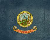 Grunge Idaho state flag — Stock Photo