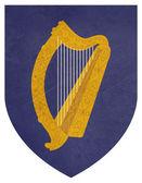 Grunge Ireland Coat of Arms — Stock Photo