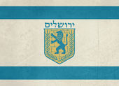 Grunge jeruzalem vlag — Stockfoto