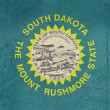 Grunge South Dakota state flag — Stockfoto