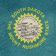 Grunge South Dakota state flag — Stok fotoğraf