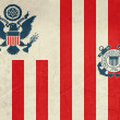 Grunge United States Navy Ensign — Stock Photo