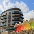 Hotel building and chalets — Foto Stock