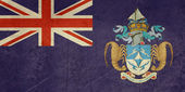 Grunge Tristan da Cunha flag — Stock Photo