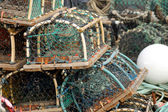 Lobster pots and creels — Stock Photo