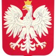 Grunge Poland coat of arms — Foto Stock