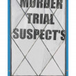 Murder trial suspects — Foto Stock