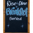 Rise and dine breakfast served — Foto Stock