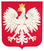Grunge Poland coat of arms — Stock Photo