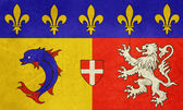 Grunge Rhone Alpes flag — Stock Photo